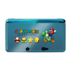 NINTENDO 3DS MARIO PROTECTOR AND SKIN SET (nowa)