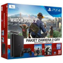 Playstation 4 Slim 1 tb CUH-2016B +WATCH DOGS+WATCH DOGS 2[POL] (nowa) (PS4)
