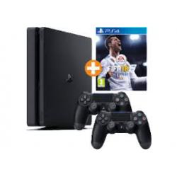 KONSOLA PLAYSTATION 4 2116 B +2 PADY+FIFA 18[POL] (nowa) (PS4)