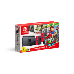 Nintendo SWITCH RED  + GRA MARIO ODYSSEY [ENG] NAJTANIEJ (nowa) (Switch)