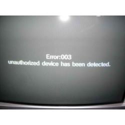 Naprawa błędu 003 lub czarnego ekranu