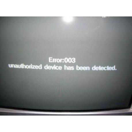 Naprawa błędu 003 albo czarnego ekranu