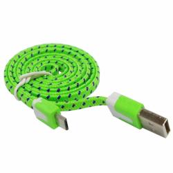 Kabel Micro USB Zielony Płaski Sznurówka (nowa)