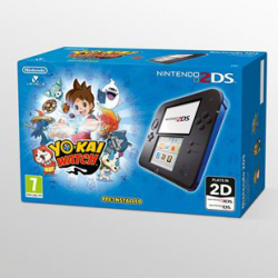NINTENDO 2DS BLACK BLUE + YO-KAI WATCH PREINSTALL (nowa)