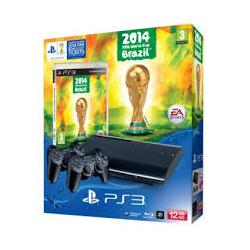 PLAYSTATION 3 SUPER SLIM 12 GB + 2 PADY +GRA FIFA WORLD CUP BRAZIL 2014 (używana) (PS3)