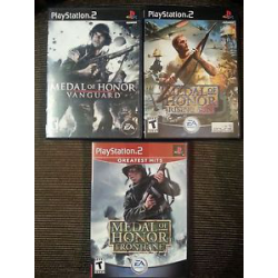 Medal of Honor Triple Pack Rising Sun Frontline Vanguard [ENG] (używana) (PS2)
