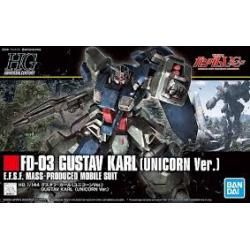 1/144 Hguc Mobile Suit Gundam Uc Gustav Karl (nowa)