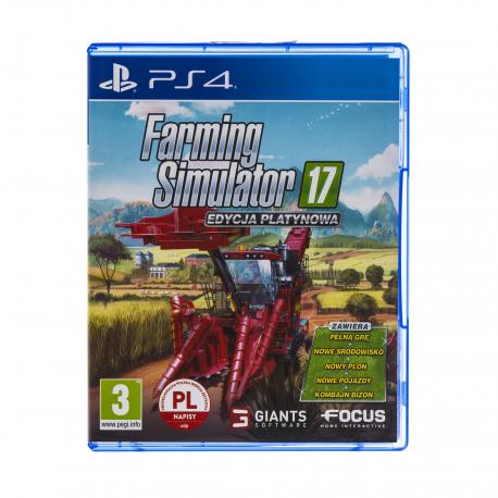 Farming Simulator 17 Edycja Platynowa [POL] (nowa) (PS4)
