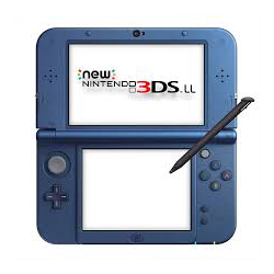 NEW NINTENDO 3DS METALLIC BLUE [ENG] (używana) (3DS)