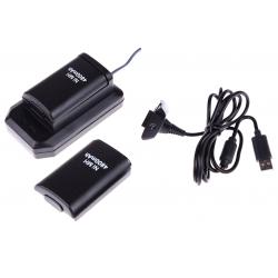 2x BATERIA DO PADA XBOX 360 ŁADOWARKA + KABEL USB (używana)