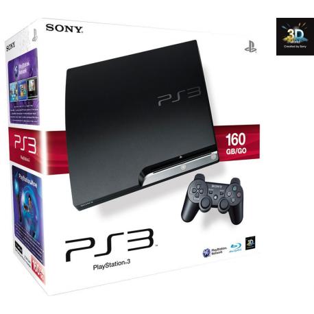 Konsola PS3 Slim 160GB  (cały zestaw)