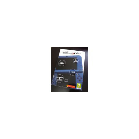 NEW NINTENDO 3DS XL METALLIC BLUE (nowa)